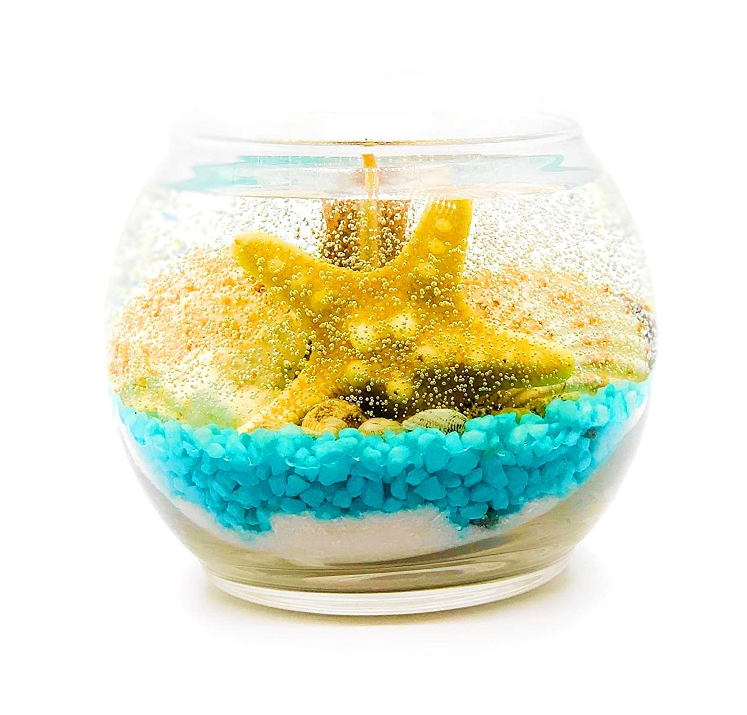 Seashell gel candle Sale Superior special price with ocean breeze Center scent Gift