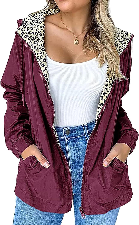 HXHYQKP Zip Up Hoodie Women Casual Jackets Military Jacket Zip Up Lightweight Utility Anorak Coat
