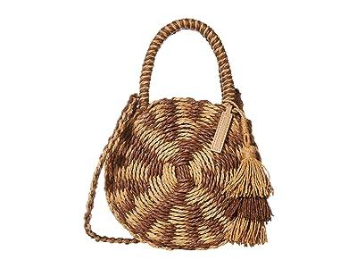 Lucky Brand Ordo Circle Crossbody (Brown/Natural) Handbags