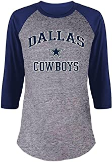 Dallas Cowboys Women's Plus Size Team Logo 3/4 Sleeve Raglan T-Shirt