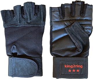king2ring 筋トレ ウェイトリフティング グローブ リストラップ 付き バッファロー革 pk900