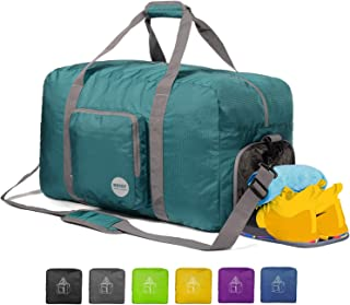 """WANDF 24"""" ~ 36"""" Foldable Duffle Bag 60L ~ 120L for Travel Gym Sports Lightweight Luggage Duffel 10 Color Choices"""
