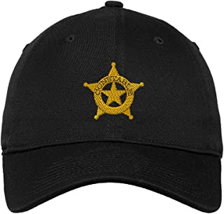 Constable Police #2 Embroidered Unisex Adult Flat Solid Buckle Cotton Unstructured Hat Low Profile Cap - Black, One Size