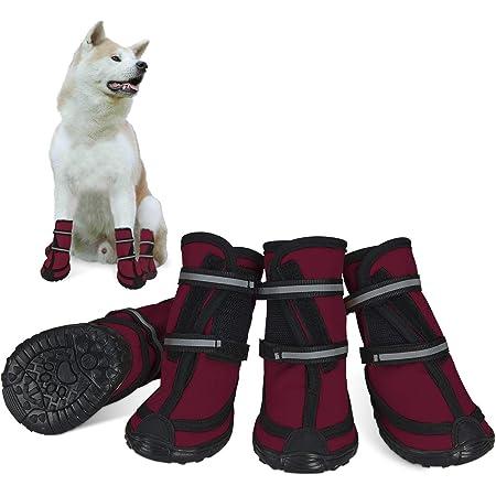 Kuncg Pfotenschutz Hund Stiefel Mesh Atmungsaktive Rutschfeste Schutz Blume Zubeh/ör Sch/öne Welpen Schuhe