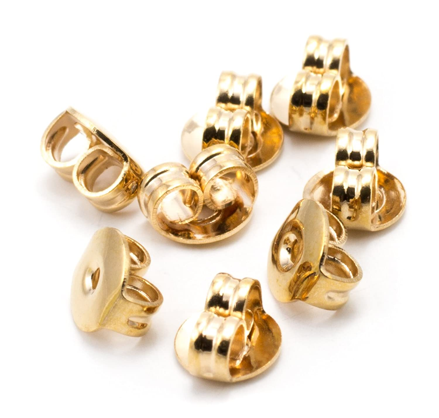 Cousin DIY 5mm Plated Rose Gold Earring Nut - 8pc ymrkff3501224