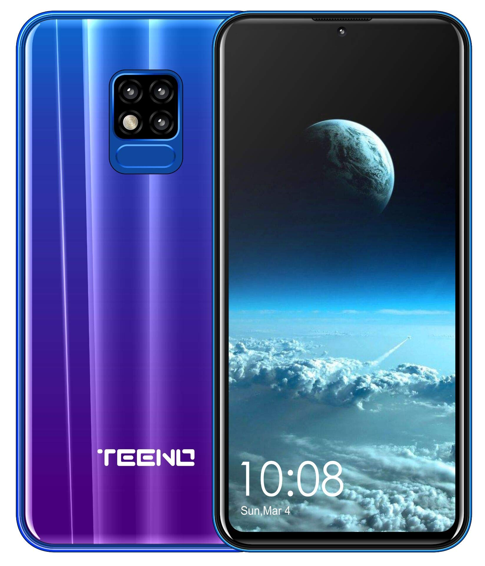 TEENO Moviles Libres 4G,6.2 Pulgadas 3GB RAM+32GB ROM Una Camara,Dual Micro SIM,SD Card,Android Smartphone Libres (Púrpura): Amazon.es: Electrónica
