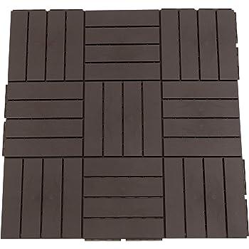 Outsunny Baldosas Cuadradas para Suelos Antideslizantes Exteriores Interiores Paquete de 9 Piezas 0.81 m² 30x30 cm Marrón: Amazon.es: Hogar