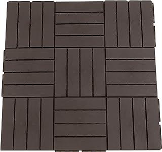 comprar comparacion Outsunny Baldosas Cuadradas para Suelos Antideslizantes Exteriores Interiores Paquete de 9 Piezas 0.81 m² 30x30 cm Marrón