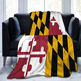 YGD-njs Maryland State Flag Soft and Warm Throw Blanket Plush Bed Couch Living Room Fleece Blanket 50