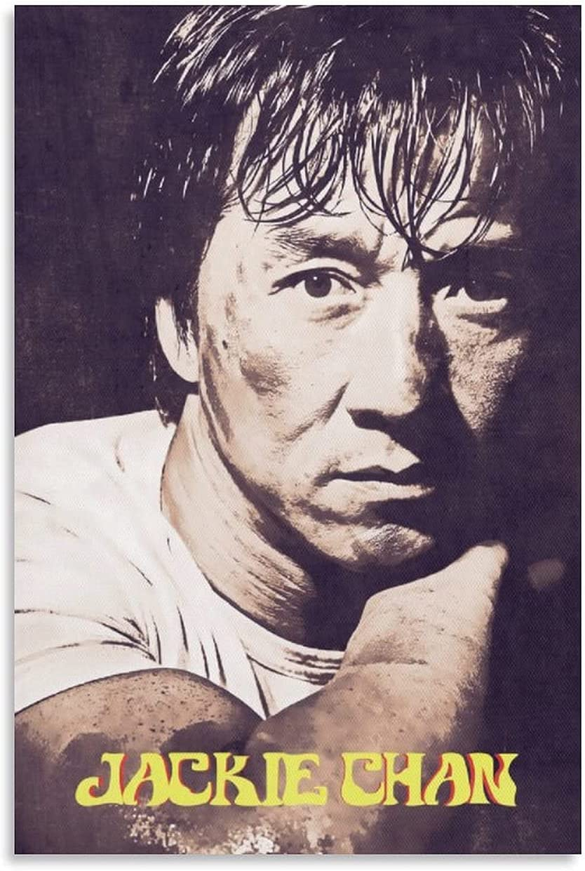 JIALING Jackie Chan Actor Portrait We OFFer at cheap prices Art Canvas De Painting Manufacturer OFFicial shop Poster