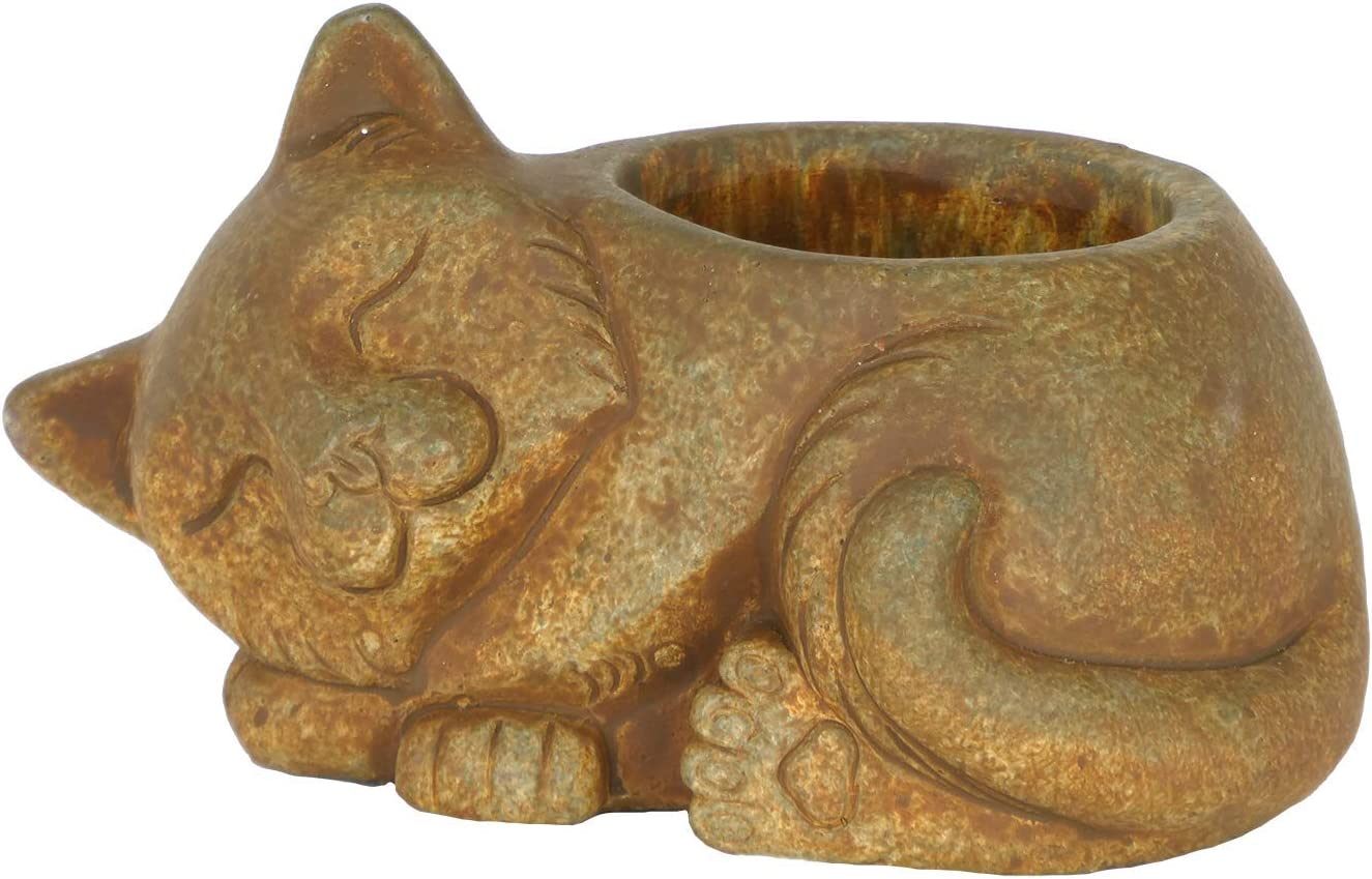 Classic Home and Garden 260009P-433 Cat Planter, Large, Rust
