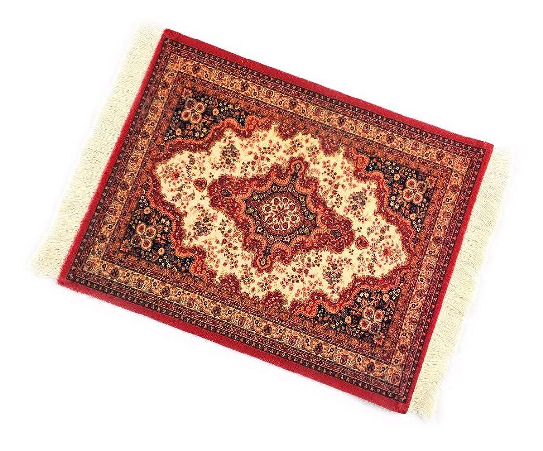 仲間ホールかんがいマウスパッド 北欧 ペルシャ絨毯柄 タペストリー 花瓶マット (赤)