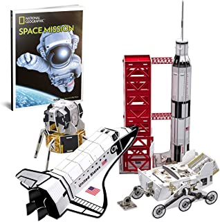 CubicFun National Geographic 3D Kids Puzzles Space Mission Model Kits for Children and Teens with Booklet, DS0971h