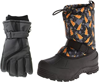 Northside Frosty Snow Boots Matching Waterproof Gloves...