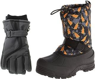 Kids Winter Snow Boots & Gloves Combo for Girls & Boys