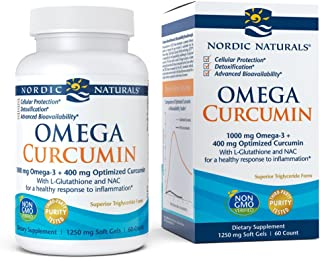 Nordic Naturals Omega Curcumin - Cellular Level Protection, Antioxidant and Anti-Inflammatory, 60 Count