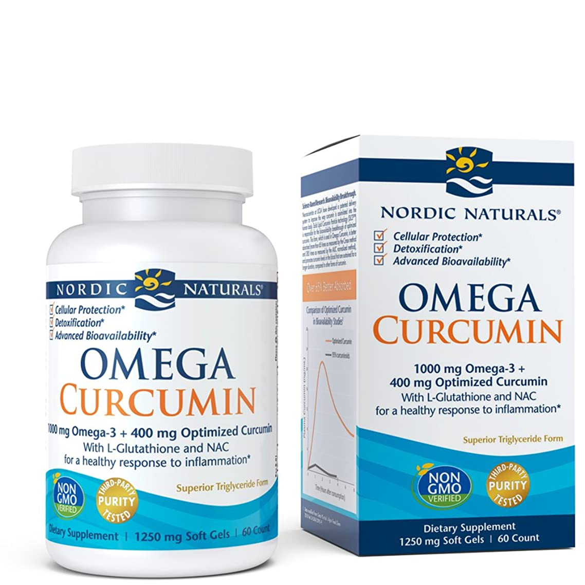 Nordic Naturals Omega Curcumin - Cellular Level Protection, Antioxidant and Anti-Inflammatory, 60 Soft Gels