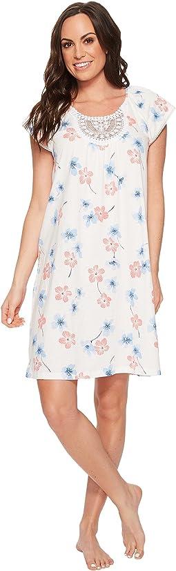 Carole Hochman - Floral Print Short Gown