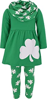 Girls St Patrick's Day Double Clovers Legging Set