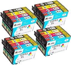 Abcs Cartuchos de Tinta Reemplazo Para Epson 29 Tinta Compatible con Expression Home XP245 XP342 XP442 XP235 XP345 XP332 XP-247 XP-445 XP-432 XP-335 XP-435 XP-352 XP-355 4BK,4C,4M,4Y