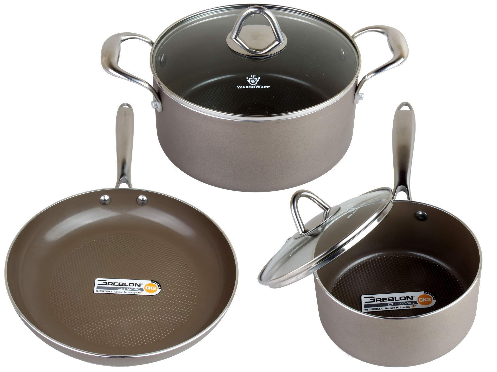 WaxonWare Nonstick Cookware Frying Saucepan