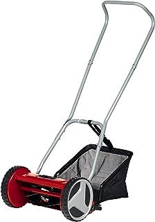 Einhell Cortacésped manual GC-HM 300 (para hasta 150 m2, husillo de corte con rodamiento de bolas con 5 cuchillas de acero de alta calidad, ajuste de altura 4 niveles 13-37 mm, colector de 16l.)