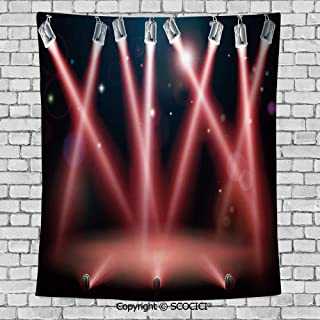 SCOCICI Popular Flexible Hot Tapestries Privacy Decoration,Musical Theatre Home Decor,Concert Performance Stage Image Disco Party Entertainment,Grey Red Black