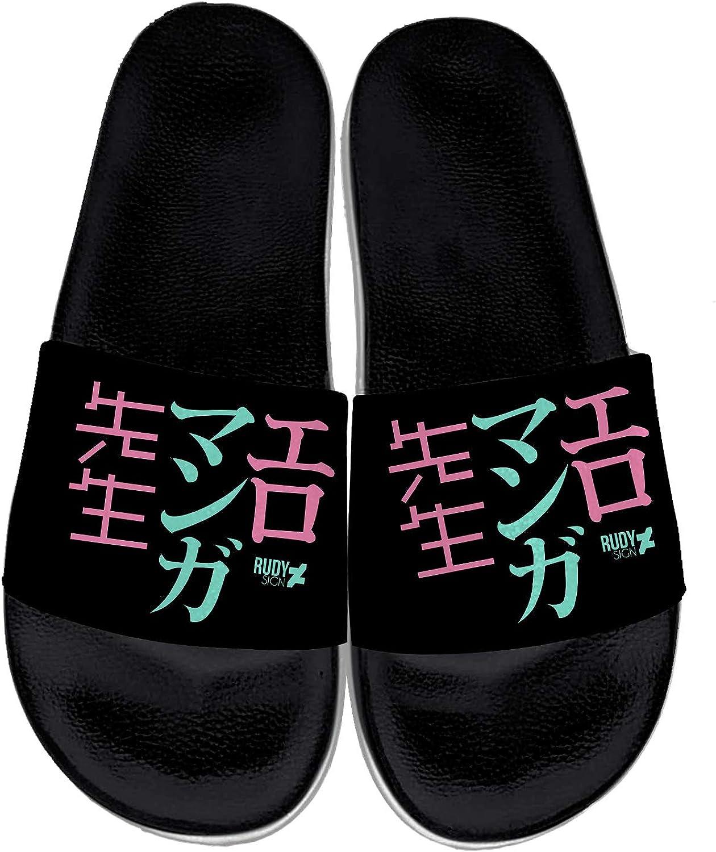 Japanese Anime Slippers for Men Women Custom Comfortable Anime Cosplay Slide Sandals Indoor Outdoor Gifts for Birthday