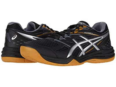 ASICS Kids Upcourt 4 Volleyball (Little Kid/Big Kid) (Black/Pure Silver) Kids Shoes