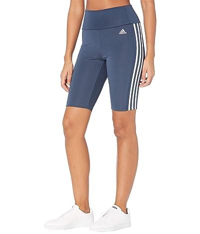 adidas 3-Stripes Short Tights (Crew Navy/White) Women