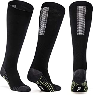 2 Pairs Compression Socks for Men and Women 15-20mmHg Fitness Medical Nursing Diabetic Atheletic Flight Travel Maternity P...