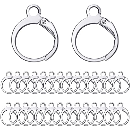50PCS Handmade Jewelry Findings Silver Leverback Drop Earring Component
