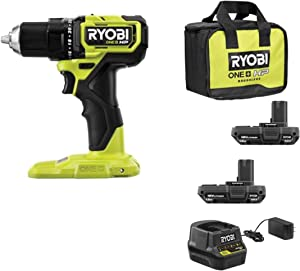 RYOBI ONE+ HP 18V Brushless Cordless Compact 1/2 in. Drill/Driver Kit with (2) 1.5 Ah Batteries, Charger and Bag