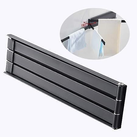 EGDL004-B cocina toallero de barra de toalla montado en la pared para ba/ño acero inoxidable SUS304 Sayayo Toallero giratorio con 4 brazos acabado negro mate