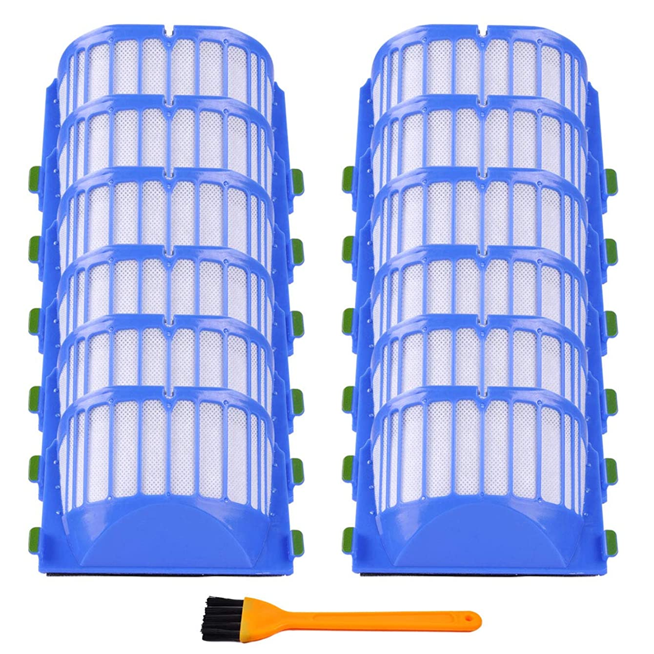 KEEPOW 12 Pcs Replacement Parts Aero Vac Filters for iRobot Roomba 500 600 Series 550 595 614 620 630 650 655 660 665 671 675 680 690 Vacuum Accessory