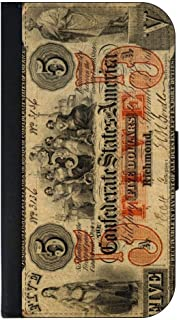Confederate 5 Dollar Bill - Apple iPhone 4/4s/5/5s/5c/6/6s/6+/6s+/7/7+/8/8+ Wallet Style Phone Case - Select Your Compatible Phone Model