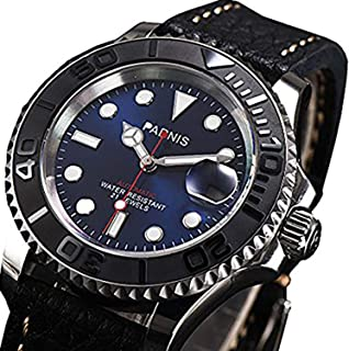 WhatsWatch 2017 New Arrival Parnis Brand Casual Mens Watches 21 Jewels Movement 50m Waterproof Swim Mens