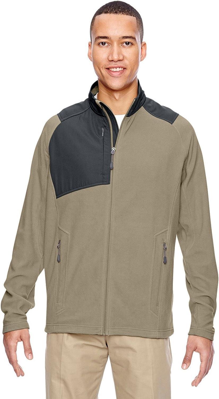 North End Excursion Trail Fabric-Block Fleece Jacket (88215) -STONE 019 -2XL