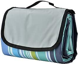 COZYSWAN Picnic Mat 59''x79'' Striped Handy Beach Blanket