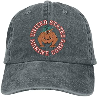 Marine Corps Bulldog USMC Dad Hat Adjustable Denim Hat Classic Baseball Cap
