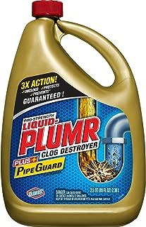 Liquid-Plumr Pro-Strength Full Clog Destroyer Plus PipeGuard, Liquid Drain Cleaner - 80 Ounces