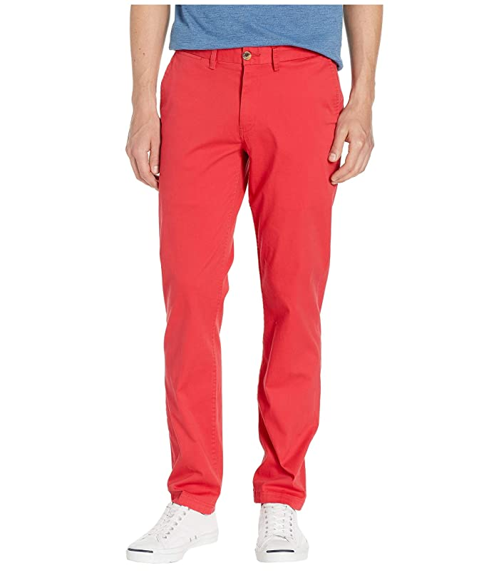 60s – 70s Mens Bell Bottom Jeans, Flares, Disco Pants Ben Sherman Slim Stretch Chino Pants MG10647 Washed Red Mens Casual Pants $71.10 AT vintagedancer.com