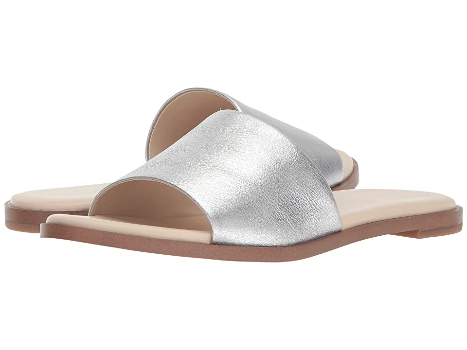 Cole Haan Anica Slide Sandal (Silver Metallic Suede) Women
