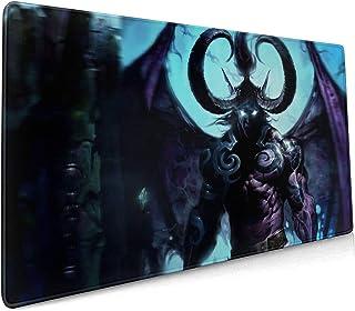 Alfombrilla para ratón para juegos, World Warcraft Illidan Stormrage Base de goma antideslizante, estera impermeable y ple...