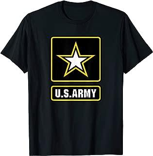 U.S. Army Gift Military White Yellow Star Proud USA Merch T-Shirt