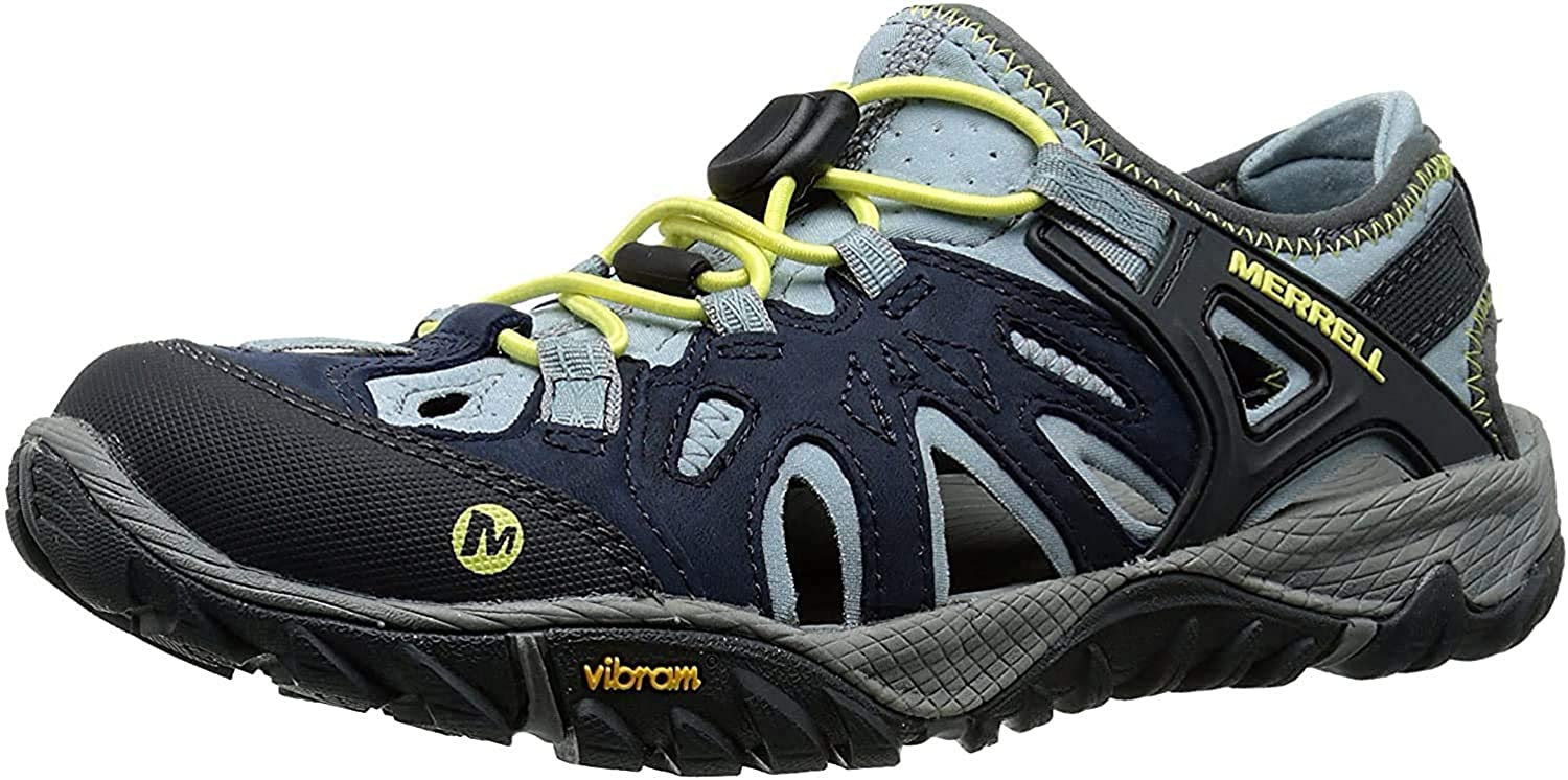 Merrell Women's All Out Spring new work one after another Blaze Sieve US M Baltimore Mall Water 10.5 Shoe Blue