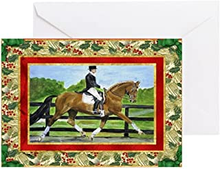 CafePress Dressage Horse Christmas Greeting Card, Note Card, Birthday Card, Blank Inside Matte