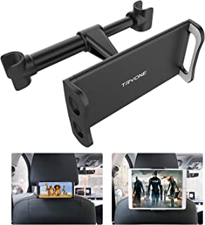 "Car Headrest Mount, Tryone Tablet Headrest Holder Compatible with Smartphones/Tablets/Switch 4.7""-10.5"", Headrest Posts Width 4.9in-5.9in(Black)"