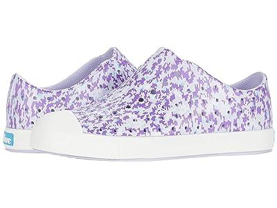 Native Kids Shoes Jefferson Print (Little Kid) (Powder Purple/Shell White/Purple Digi) Girls Shoes