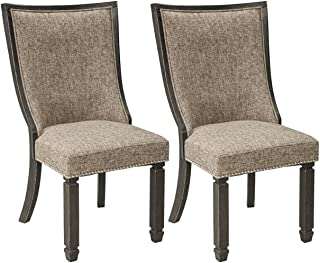 Signature Design By Ashley - Tyler Creek Dining Upholstered Side Chair - Set of 2 - Casual Style - Black/Gray